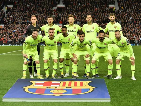 El once del Barça en Old Trafford FOTO:EFE