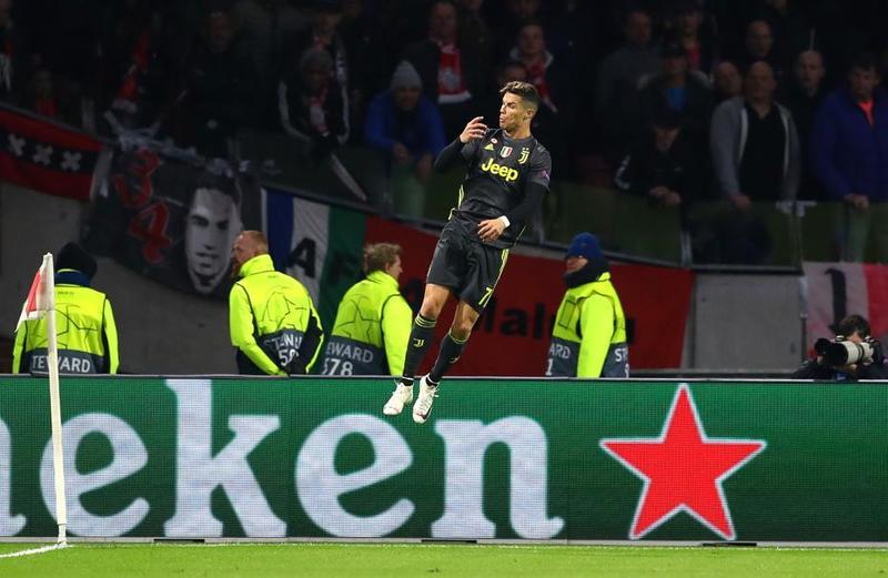 Imagen del Ajax - Juve de la Uefa Champions League.