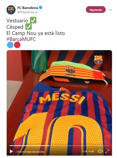 La camiseta de Messi ya está lista para el partido