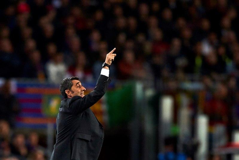 Valverde durante el partido