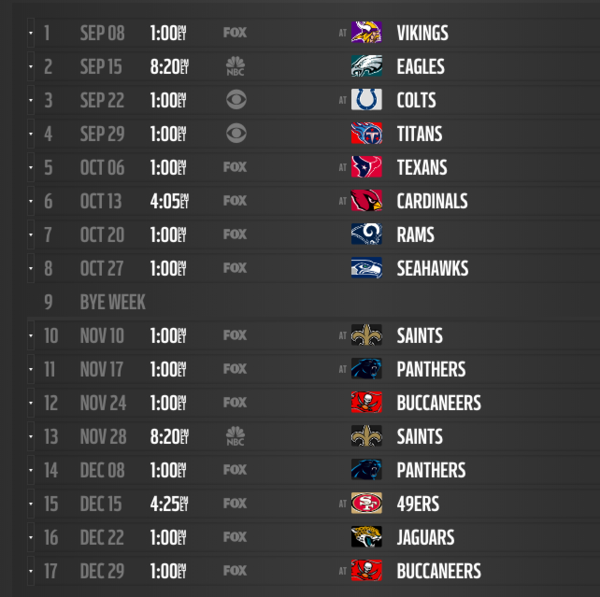 Vikings 2020 Schedule.2019 Nfl Schedule Release Live Updates Leaks Tnf And Mnf