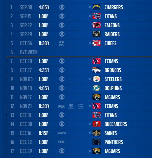 2019 NFL schedule release: Live updates, leaks, TNF and MNF
