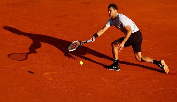 Grigor Dimitrov ha perdido puestos en el ranking, es 27º, y defiende semifinales en Montecarlo, donde perdió en esa ronda ante Rafa Nadal, contra quien ha perdido los cuatro duelos en tierra batida previos a éste FOTO: GETTY
