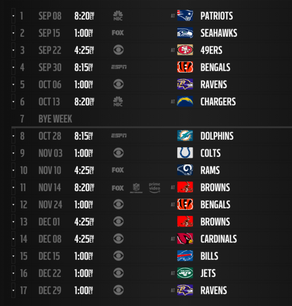 Chargers Schedule 2020.2019 Nfl Schedule Release Live Updates Leaks Tnf And Mnf