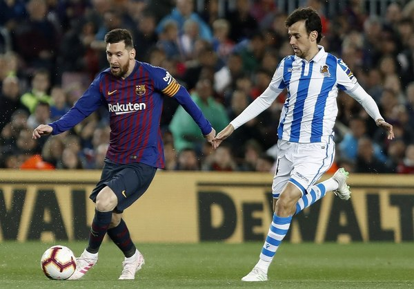Messi, en acción FOTO: EFE