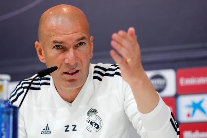 Zidane, entrenador del Real Madrid en la previa del partido
