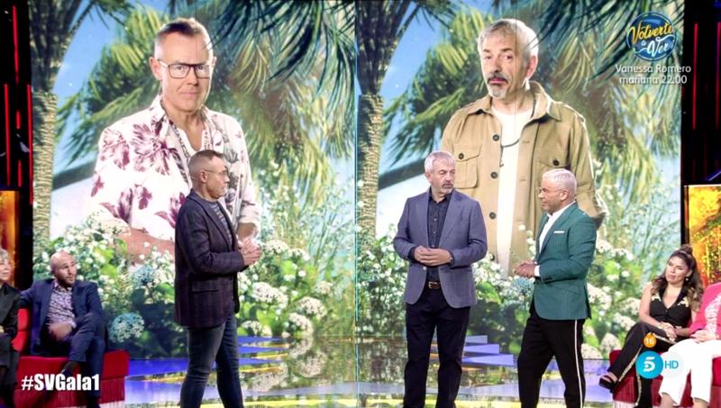 Los tres presentadores de Supervivientes