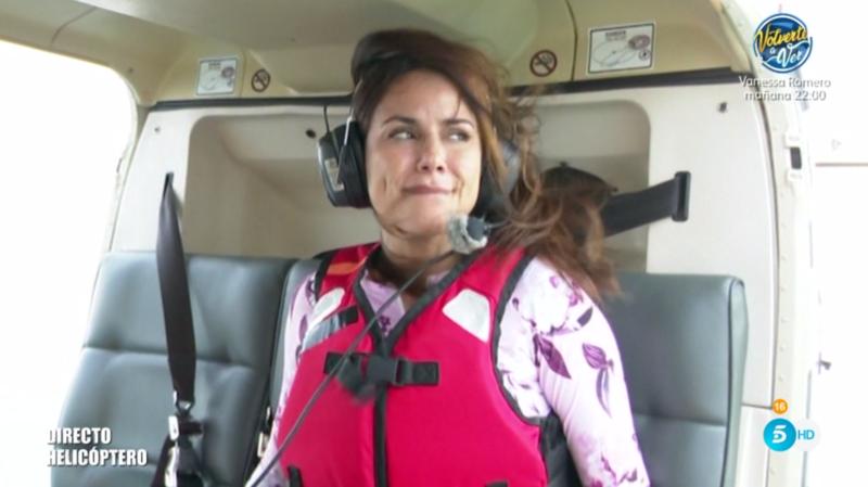 Mónica Hoyos antes de su salto