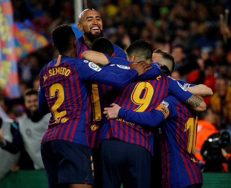 Así ha celebrado el equipo el gol de Leo Messi que hacía al Barça campeón