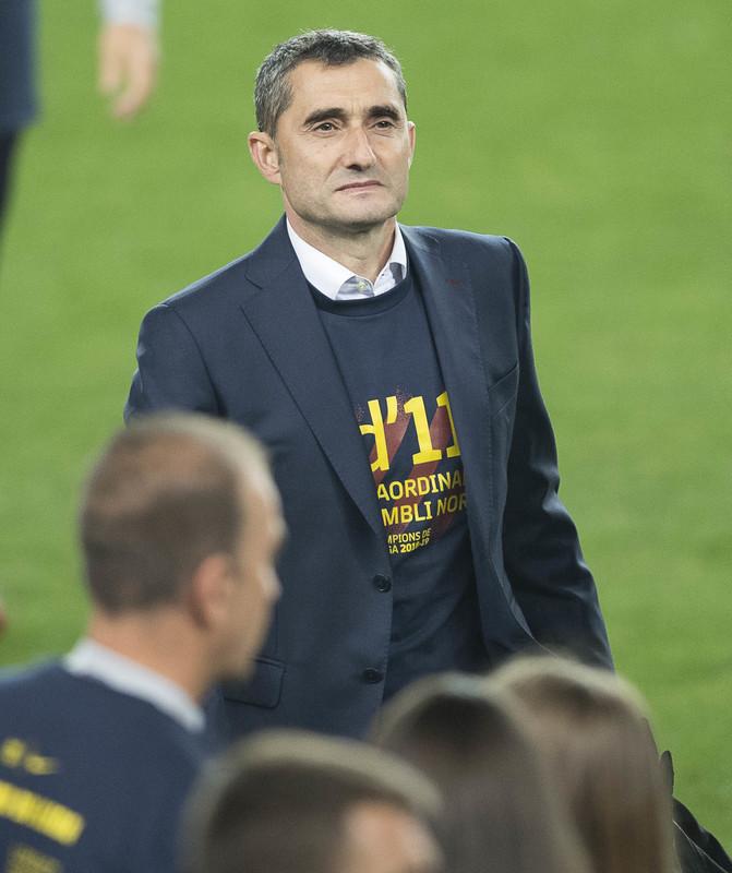 Valverde durante la celebración