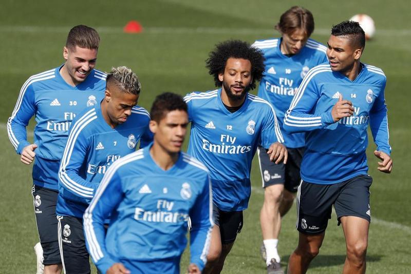 Imagen del entrenamiento del Real previo al partido ante el Valencia