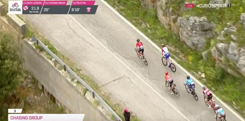 La carrera transita ahora por las rampas del Coppa Casarinelle