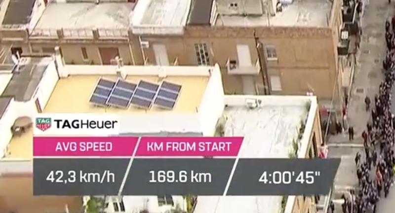 4 horas sobre la bicicleta cuando quedan algo menos de 70km para el final