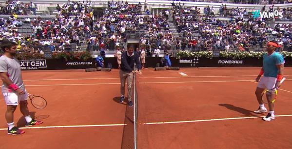 Fernando Verdasco y Rafa Nadal, preparativos para su duelo de cuartos en Roma