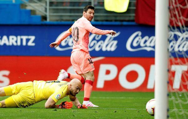 El 1-1 de Messi FOTO: EFE