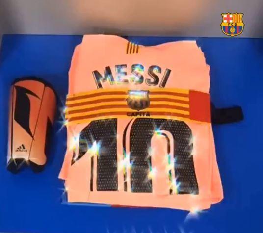 La camiseta de Messi ya está preparada en el vestuario de Ipurua