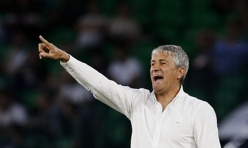 Quique Setién, entrenador del Real Betis
