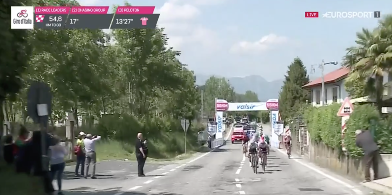 Se empieza a romper la carrera hoy en el Giro