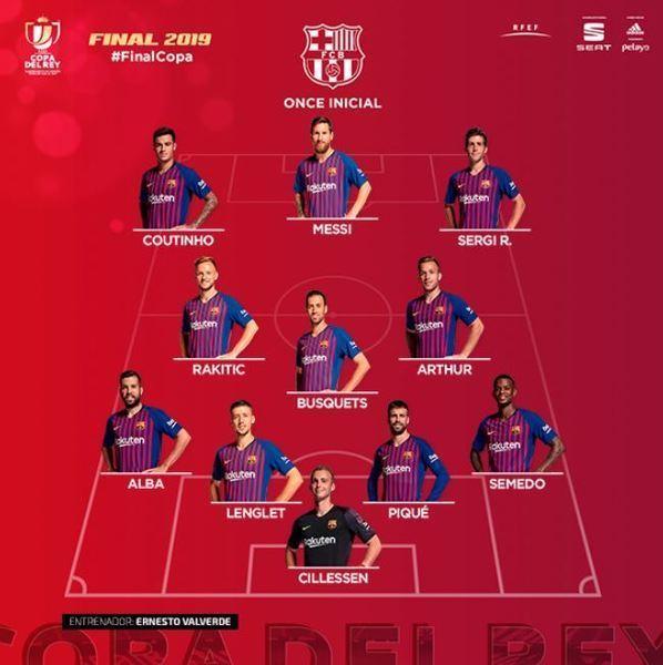 Este es el once del Barça