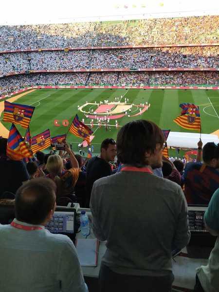 El estadio está preparado. (Foto: Pablo Planas)