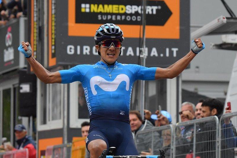 RICHARD CARAPAZ (Movistar), ganador de esta 14ª etapa del Giro 2019