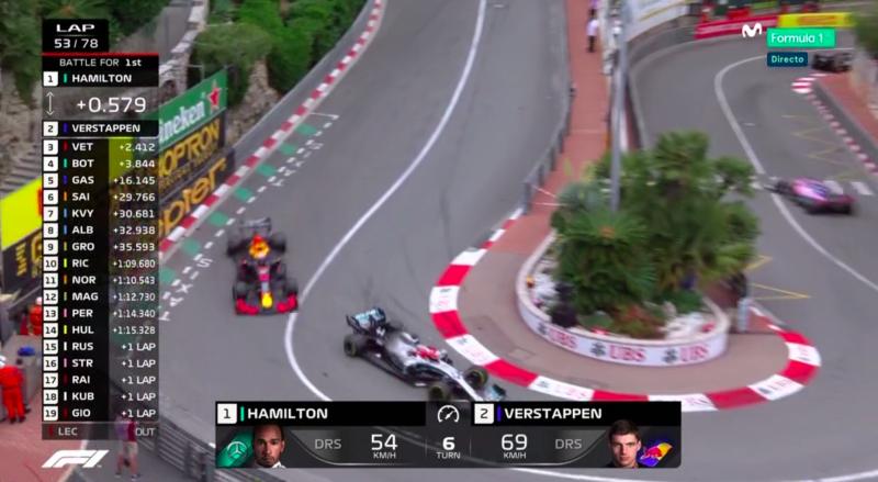 Verstappen pegado a Hamilton.
