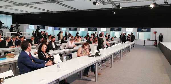 La sala de prensa, ahora mismo. EFE/Sagrario Ortega
