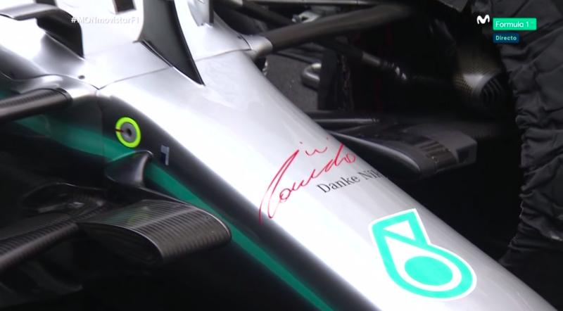 El coche de Mercedes es hoy un homenaje a Niki Lauda.