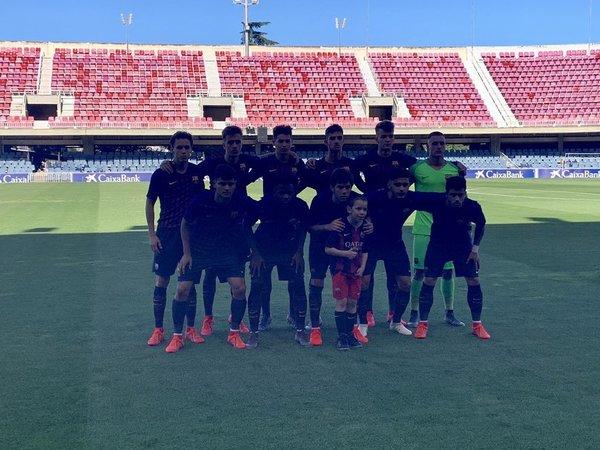El once del Juvenil A del Barça ante el Madrid FOTO: FCB