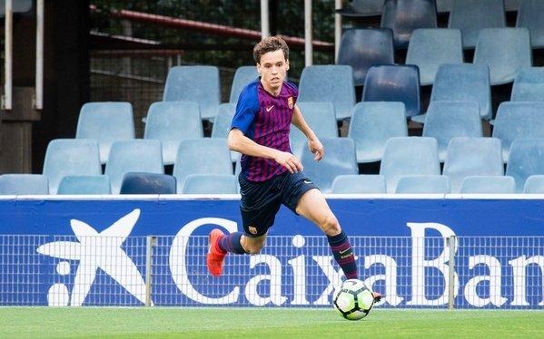 Jandro Orellana, sin ideas hoy ante el Madrid, como sus compañeros FOTO: FCB