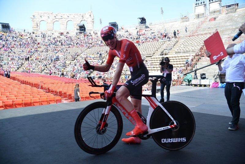 CHAD HAGA (Sunweb), el sorprendente ganador de la etapa final del Giro de Italia 2019