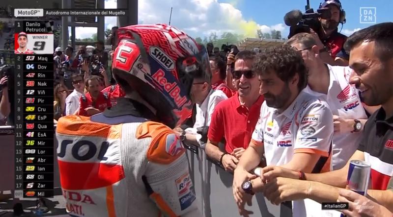 Márquez, contento al final de la carrera.