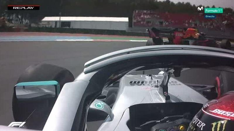 El momento en que Hamilton volvió a pista