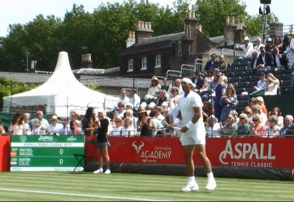 Rafa Nadal, en el Aspall Tennis Classic, donde volverá a jugar el viernes, entonces frente a Lucas Pouille.
