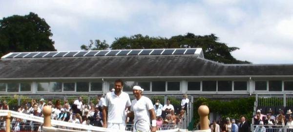 Marin Cilic y Rafa Nadal, de riguroso blanco en Hurlingham, como si estuvieran en Wimbledon