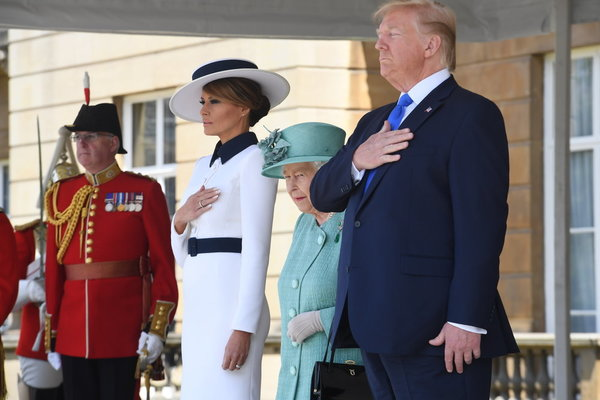 Donald Trump visit: Queen welcomes US President to Britain