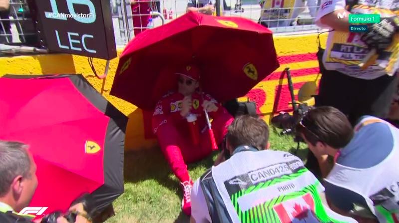 Así se protege del sol Leclerc.