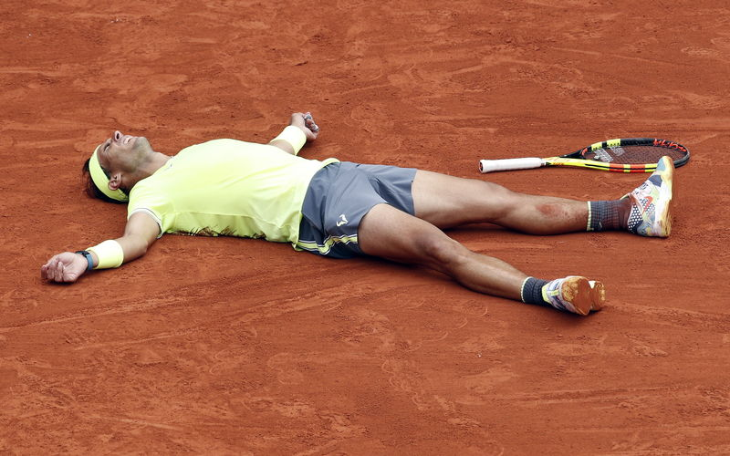 Así ha reaccionado Rafa Nadal tras conquistar su título en París (EFE)
