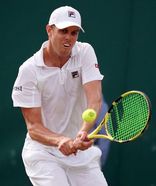 Sam Querrey, rival de Rafa Nadal en cuartos de Wimbledon. En minutos comienza el partido FOTO: EFE
