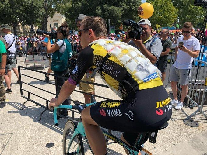 TONY MARTIN (Lotto Jumbo), preparado para luchar ante el calor intenso de hoy en el Tour de Francia
