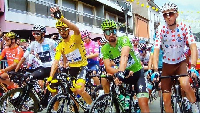 Bernal, Alaphilippe, Sagan y Bardet, portadores de los maillots del Tour de Francia
