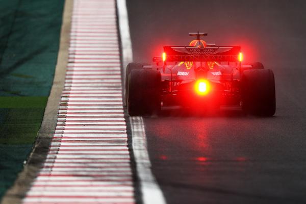 Max Verstappen. Día cubierto y lluvioso en Hungaroring FOTO: GETTY