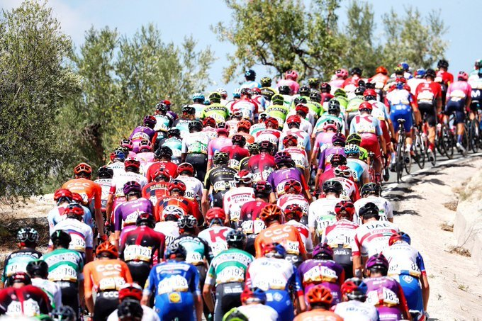 El pelotón de la Vuelta a España 2019 en esta 2ª etapa