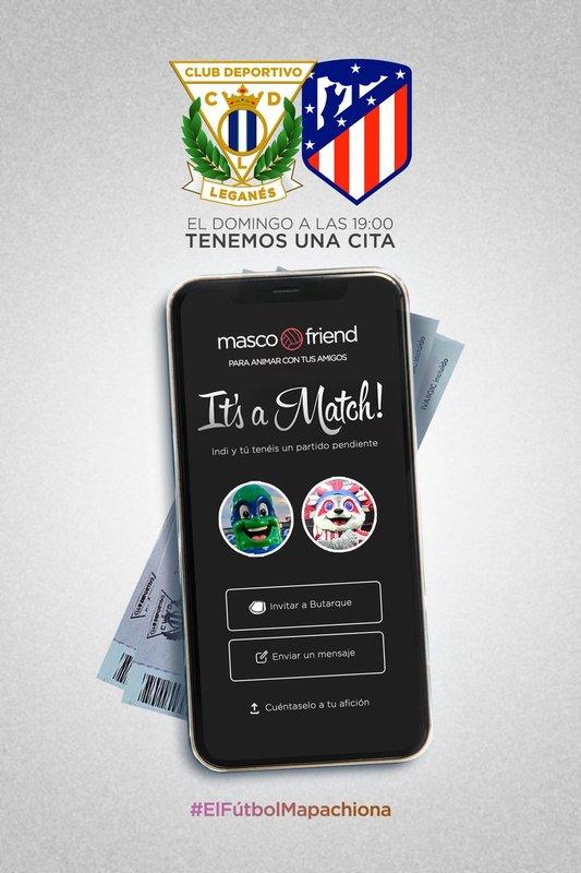 Este es el simpático cartel on-line que el CD Leganés ha hecho para este partido