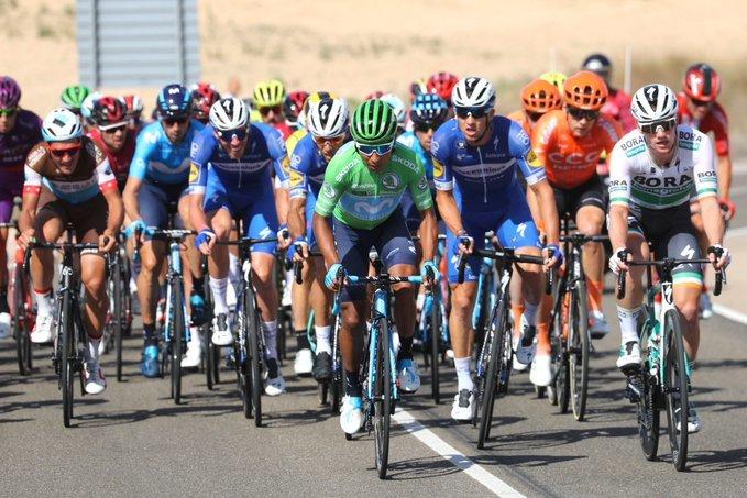 NAIRO QUINTANA (Movistar) sube al 2º puesto de la general virtual de la Vuelta a España