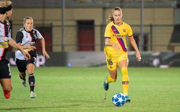 Caroline Graham Hansen, clave en la jugada del 0-1 FOTO: FCB