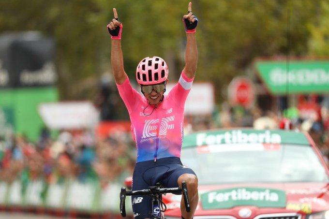 SERGIO HIGUITA (Education First), ganador de la 18ª etapa de la Vuelta a España