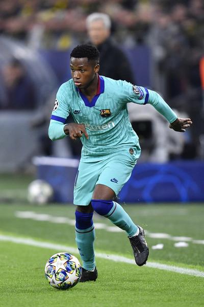 Ansu Fati, de solo 16 años, titular por primera vez en la Champions FOTO: AP