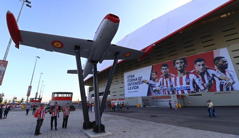 El Atlético guarda una gran relación con el Ejército del Aire desde los tiempos del Atlético Aviación. (FOTO: Club Atlético de Madrid)