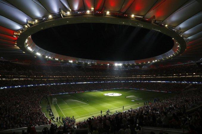 Impresionante el aspecto del Metropolitano en el partidazo de hoy. (FOTO: Club Atlético de Madrid)